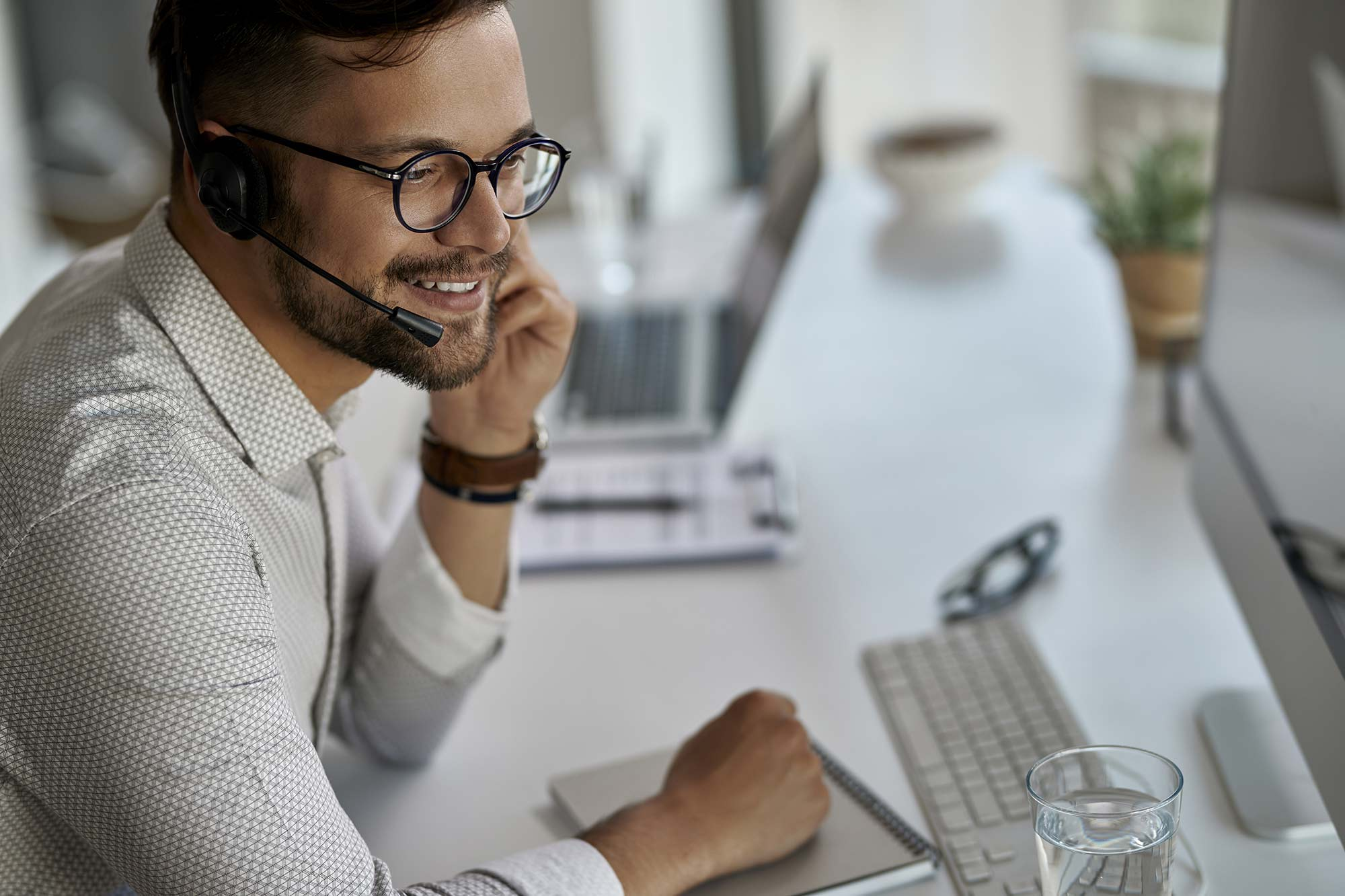 IT guy answering call